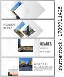 vector layout of headers ... | Shutterstock .eps vector #1789911425