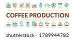 coffee production minimal...   Shutterstock .eps vector #1789944782