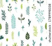green plant pattern. vector... | Shutterstock .eps vector #1789998338