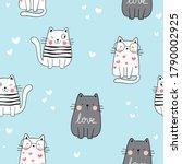 draw seamless pattern...   Shutterstock .eps vector #1790002925