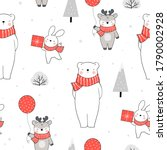 draw seamless pattern... | Shutterstock .eps vector #1790002928