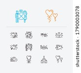 romance icons set. heart with... | Shutterstock .eps vector #1790003078