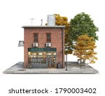 small red brick building with... | Shutterstock . vector #1790003402