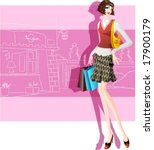 woman's fashion and shopping  ... | Shutterstock .eps vector #17900179