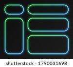 neon gradient frames set ... | Shutterstock .eps vector #1790031698