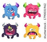 funny cartoon creatures. set of ...   Shutterstock .eps vector #1790031962
