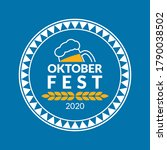 oktoberfest logo  badge or... | Shutterstock .eps vector #1790038502