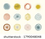 artistic circle elements. use... | Shutterstock .eps vector #1790048048
