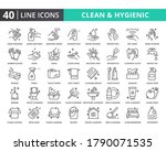 hygiene vector line icon set.... | Shutterstock .eps vector #1790071535