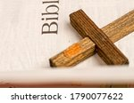 old with yellowed pages open...   Shutterstock . vector #1790077622