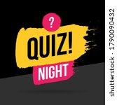 quiz night time icon  emblem ...   Shutterstock .eps vector #1790090432