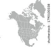 vector map gray icon of north... | Shutterstock .eps vector #1790100338