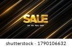 sale banner design. vector 3d... | Shutterstock .eps vector #1790106632