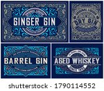 set of vintage logos organized...   Shutterstock .eps vector #1790114552