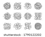 different thin scribble lines...   Shutterstock .eps vector #1790122202