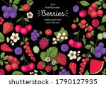 berries drawing collection.... | Shutterstock .eps vector #1790127935