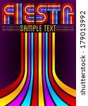 fiesta   colorful vector poster ...   Shutterstock .eps vector #179013992