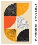minimal 20s geometric design... | Shutterstock .eps vector #1790153525