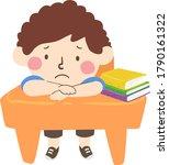 illustration of a sad kid boy...   Shutterstock .eps vector #1790161322
