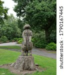 Wooden Sculpture Of A Squirrel...