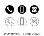 phone icon vector. phone and... | Shutterstock .eps vector #1790179538
