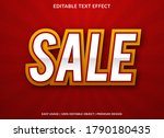 sale text effect template with... | Shutterstock .eps vector #1790180435