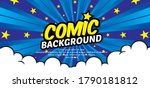 pop art comic background with... | Shutterstock .eps vector #1790181812