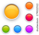 set of colorful circles. | Shutterstock . vector #179022512