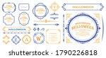design material for halloween. ...   Shutterstock .eps vector #1790226818
