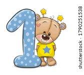 cute cartoon teddy bear and... | Shutterstock .eps vector #1790251538