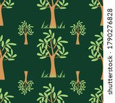 tree seamless pattern print...   Shutterstock .eps vector #1790276828
