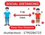 social distancing. keep a... | Shutterstock .eps vector #1790286725