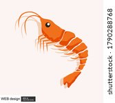 shrimp logo. isolated shrimp on ... | Shutterstock .eps vector #1790288768
