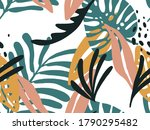 seamless abstract doodle... | Shutterstock .eps vector #1790295482
