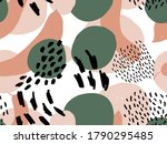 seamless abstract doodle... | Shutterstock .eps vector #1790295485