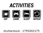 activites eat  game  sleep and... | Shutterstock .eps vector #1790302175