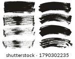 flat paint brush thin long  ... | Shutterstock .eps vector #1790302235