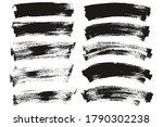flat paint brush thin long  ...   Shutterstock .eps vector #1790302238