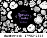 berries and fruits drawing... | Shutterstock .eps vector #1790341565