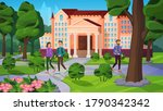 university landscape with... | Shutterstock .eps vector #1790342342