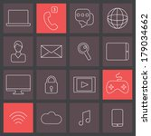 trendy thin line icons set ... | Shutterstock .eps vector #179034662
