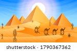 Abstract Orange Desert...