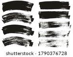 flat paint brush thin long  ... | Shutterstock .eps vector #1790376728