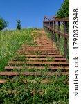 Stairway To Heaven. Wooden...