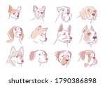 dog collection. puppy set.... | Shutterstock .eps vector #1790386898