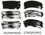 flat paint brush thin long  ... | Shutterstock .eps vector #1790391902
