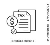 tax report icon. profit or... | Shutterstock .eps vector #1790408735