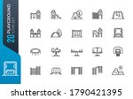 playground icon set. included... | Shutterstock .eps vector #1790421395