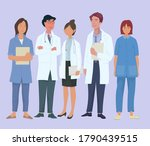 medical staff  doctor and nurse ... | Shutterstock .eps vector #1790439515