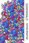 color abstract doodle art fun   Shutterstock . vector #1790443055
